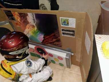 cardboard spaceship 2